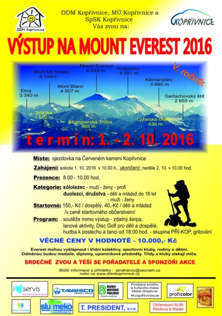 plakat a4 mount everest 2016